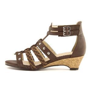 グラディエーター サンダル ウェッジソール アンクルストラップ 女の子 キッズ 子供靴 リップザスウェル Rip the Swell 852049 ダークブラウン|shoesdirect