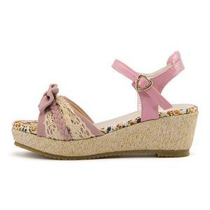 厚底 サンダル ウェッジソール アンクルストラップ 女の子 キッズ 子供靴 美脚 リップザスウェル Rip the Swell 852052 ピンク|shoesdirect