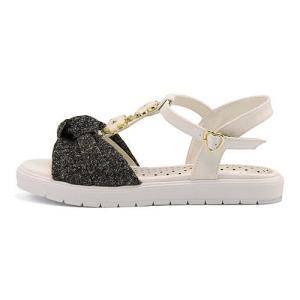 サンダル ぺたんこ Tストラップ 女の子 キッズ 子供靴 フラワー付き リップザスウェル Rip the Swell 852054 ブラック|shoesdirect