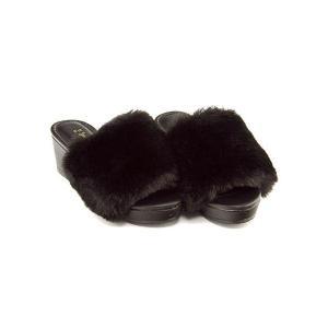 ファーサンダル 太ヒール 女の子 キッズ 子供靴 美脚 リップザスウェル Rip the Swell 852059 ブラック|shoesdirect