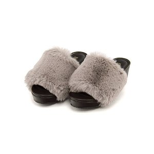 ファーサンダル 太ヒール 女の子 キッズ 子供靴 美脚 リップザスウェル Rip the Swell 852059 グレー|shoesdirect