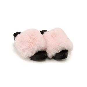 ファーサンダル 太ヒール 女の子 キッズ 子供靴 美脚 リップザスウェル Rip the Swell 852059 ピンク|shoesdirect