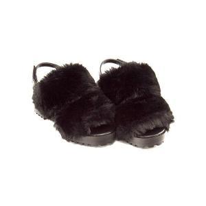 ファーサンダル 太ヒール 女の子 キッズ 子供靴 美脚 リップザスウェル Rip the Swell 852062 ブラック|shoesdirect