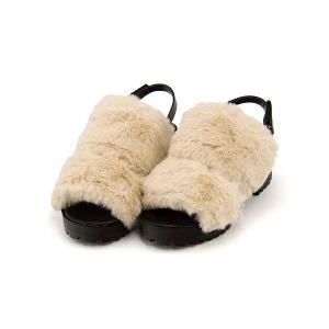 ファーサンダル 太ヒール 女の子 キッズ 子供靴 美脚 リップザスウェル Rip the Swell 852062 ホワイト|shoesdirect