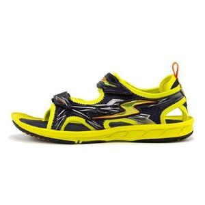 スーパースター バネのチカラ 男の子 キッズ 子供靴 スポーツ サンダル イナズマスプリンター SS SUPERSTAR S762 イエロー|shoesdirect