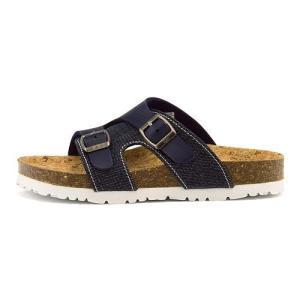 リー フットベッド サンダル 女の子 キッズ 子供靴 サンタフェ 限定モデル カバードタイプ SANTA FE Lee 811 デニム|shoesdirect
