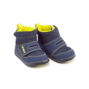 イフミー ベビーシューズ スニーカー ブーツ 男の子 キッズ ベビー 子供靴 ストラップ IFME 30-7704 ネイビー|shoesdirect