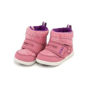 イフミー ベビーシューズ スニーカー ブーツ 女の子 キッズ ベビー 子供靴 ストラップ IFME 30-7704 ピンク|shoesdirect