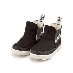 リー ハイカット スニーカー ブーツ 男の子 キッズ 子供靴 通学靴 運動靴 限定モデル サイドゴア Lee 813 ブラック|shoesdirect