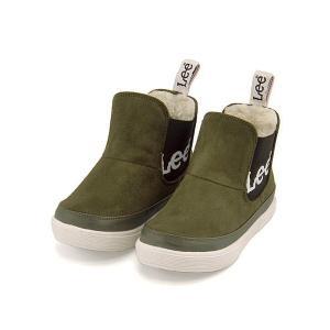 リー ハイカット スニーカー ブーツ 男の子 キッズ 子供靴 通学靴 運動靴 限定モデル サイドゴア Lee 813 カーキグリーン|shoesdirect