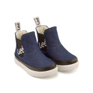 リー ハイカット スニーカー ブーツ 男の子 キッズ 子供靴 通学靴 運動靴 限定モデル サイドゴア Lee 813 デニム|shoesdirect