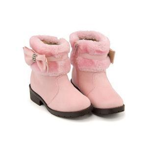 ショートブーツ 女の子 キッズ 子供靴 リボン付き ファー リップザスウェル Rip the Swell 860020 ピンク|shoesdirect