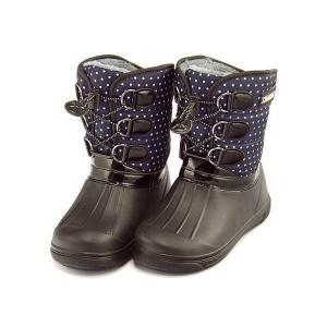 ウィンターブーツ スノーブーツ 長靴 女の子 男の子 キッズ 子供靴 防水 軽量 チャーキーズ CHARKIES CH2030 ネイビー|shoesdirect