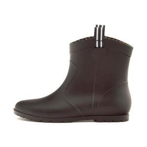 レインブーツ 長靴 ショートブーツ ローヒール レディース 防水 防滑 雨 雪 靴 ミレディ MILADY ML716 ブラック|shoesdirect