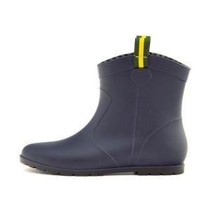 レインブーツ 長靴 ショートブーツ ローヒール レディース 防水 防滑 雨 雪 靴 ミレディ MILADY ML716 ネイビー|shoesdirect