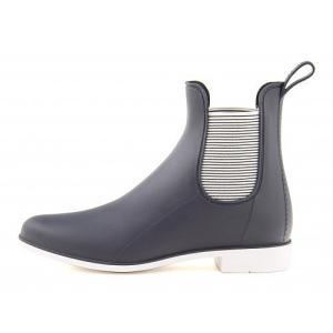 レインブーツ 長靴 ショートブーツ レディース サイドゴア 防水 防滑 ミレディ MILADY ML752 ネイビー|shoesdirect
