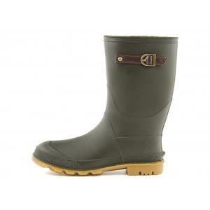 レインブーツ 長靴 ショートブーツ レディース ベルト付き 防水 防滑 ミレディ MILADY ML814 カーキ|shoesdirect