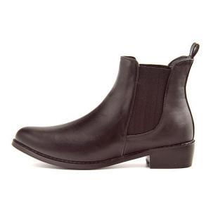 レインブーツ ショートブーツ 長靴 レディース ローヒール 防水 防滑 ジェノバレンタイン Jeno Valentine 9747 ブラック|shoesdirect