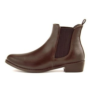 レインブーツ ショートブーツ 長靴 レディース ローヒール 防水 防滑 ジェノバレンタイン Jeno Valentine 9747 ブラウン|shoesdirect