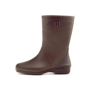 レインブーツ ハーフブーツ 長靴 レディース コサック ローヒール 防水 防滑 3E 第一ゴム G333 ブラウン|shoesdirect