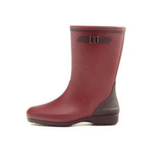 レインブーツ ハーフブーツ 長靴 レディース コサック ローヒール 防水 防滑 3E 第一ゴム G333 ワイン|shoesdirect