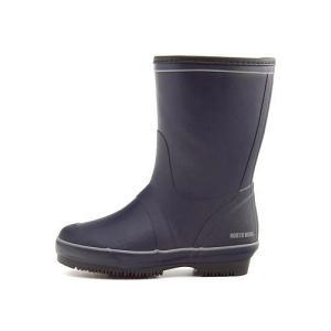レインブーツ ハーフブーツ 長靴 レディース ローヒール 防水 防滑 3E ノースウィング NORTH WING 146003 ネイビー|shoesdirect