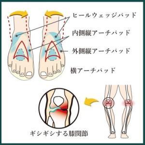 インソールプロ 膝痛 対策 中敷き インソール 衝撃吸収 膝 О脚 レディース shoesfit 05