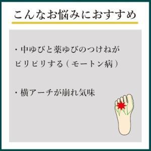 インソールプロ モートン病 対策 アーチパッド 中敷き インソール 衝撃吸収 メンズ|shoesfit|03