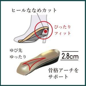 ヘブンリーインソール 脚長 3/4 サイズ 中敷き 衝撃吸収 インヒール レディース shoesfit 04