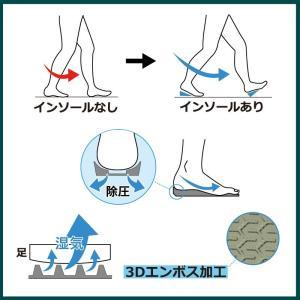 安全靴 用 インソール 衝撃吸収 かかと痛 ムレ 通気性 作業靴 中敷き 日本製|shoesfit|04