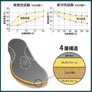 断熱 断冷 インソール 衝撃吸収 速乾 ムレ 土踏まず 作業靴 中敷き 日本製 shoesfit 04