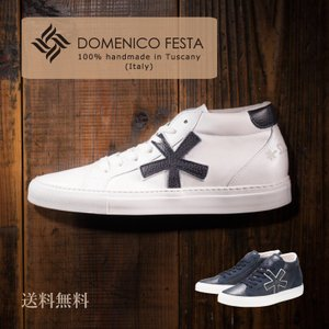 DOMENICO FESTA MID TENNIS LEATHER 24.5〜28.0cm|shoesfit