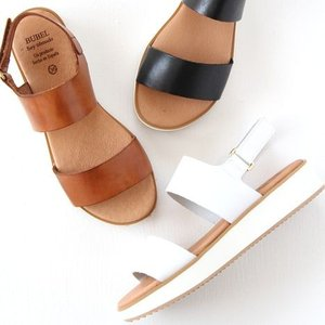 Bubel ブベル プラットフォームサンダル No.5110 ベルクロ バックベルト レディース 靴|shoesgallery-hana