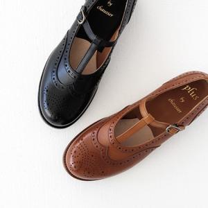 plus by chausser プリュス バイ ショセ Tストラップシューズ PC-5042 レディース 靴|shoesgallery-hana