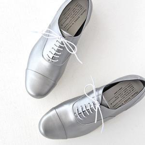 TRAVEL SHOES by chausser トラベルシューズバイショセ ストレートチップレースアップシューズ TR-001 シルバー/ホワイト レディース 靴|shoesgallery-hana
