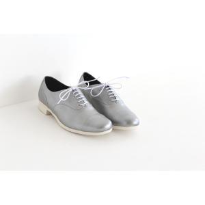 TRAVEL SHOES by chausser トラベルシューズバイショセ ストレートチップレースアップシューズ TR-001 シルバー/ホワイト レディース 靴|shoesgallery-hana|02