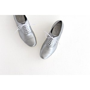 TRAVEL SHOES by chausser トラベルシューズバイショセ ストレートチップレースアップシューズ TR-001 シルバー/ホワイト レディース 靴|shoesgallery-hana|03