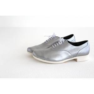 TRAVEL SHOES by chausser トラベルシューズバイショセ ストレートチップレースアップシューズ TR-001 シルバー/ホワイト レディース 靴|shoesgallery-hana|04