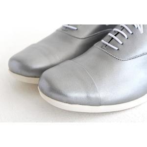 TRAVEL SHOES by chausser トラベルシューズバイショセ ストレートチップレースアップシューズ TR-001 シルバー/ホワイト レディース 靴|shoesgallery-hana|05