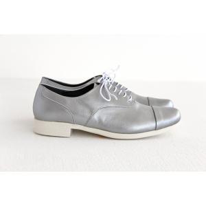 TRAVEL SHOES by chausser トラベルシューズバイショセ ストレートチップレースアップシューズ TR-001 シルバー/ホワイト レディース 靴|shoesgallery-hana|06