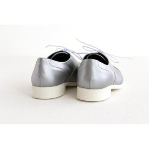TRAVEL SHOES by chausser トラベルシューズバイショセ ストレートチップレースアップシューズ TR-001 シルバー/ホワイト レディース 靴|shoesgallery-hana|07
