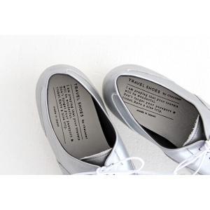 TRAVEL SHOES by chausser トラベルシューズバイショセ ストレートチップレースアップシューズ TR-001 シルバー/ホワイト レディース 靴|shoesgallery-hana|08