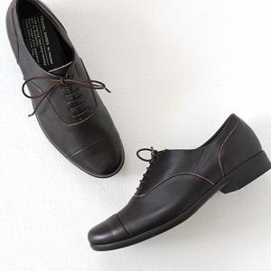 TRAVEL SHOES by chausser トラベルシューズバイショセ ストレートチップレースアップシューズ TR-001 ダークブラウン レディース 靴|shoesgallery-hana