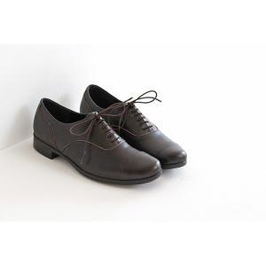 TRAVEL SHOES by chausser トラベルシューズバイショセ ストレートチップレースアップシューズ TR-001 ダークブラウン レディース 靴|shoesgallery-hana|02