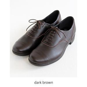 TRAVEL SHOES by chausser トラベルシューズバイショセ ストレートチップレースアップシューズ TR-001 ダークブラウン レディース 靴|shoesgallery-hana|11