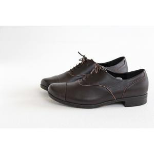 TRAVEL SHOES by chausser トラベルシューズバイショセ ストレートチップレースアップシューズ TR-001 ダークブラウン レディース 靴|shoesgallery-hana|06
