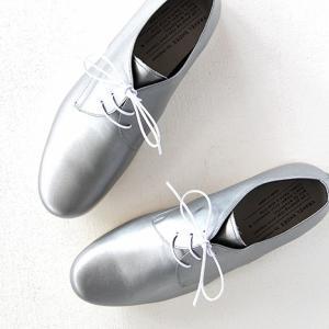 TRAVEL SHOES by chausser トラベルシューズバイショセ プレーントゥレースアップシューズ TR-008 シルバー/ホワイト レディース 靴|shoesgallery-hana