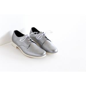 TRAVEL SHOES by chausser トラベルシューズバイショセ プレーントゥレースアップシューズ TR-008 シルバー/ホワイト レディース 靴 shoesgallery-hana 02