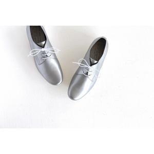 TRAVEL SHOES by chausser トラベルシューズバイショセ プレーントゥレースアップシューズ TR-008 シルバー/ホワイト レディース 靴 shoesgallery-hana 03