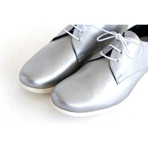 TRAVEL SHOES by chausser トラベルシューズバイショセ プレーントゥレースアップシューズ TR-008 シルバー/ホワイト レディース 靴 shoesgallery-hana 05